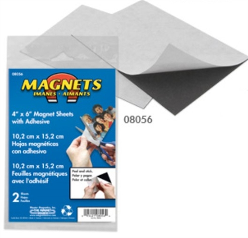 magnet source 8056 4 x 6 flexible magnetic sheets w adhesive 2