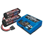 TRAXXAS 2993... CHARGER COMBO X-MAXX 8S 2 PACKS W/CHARGER
