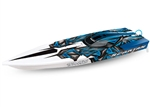 TRAXXAS UE... SPARTAN RNR NEW BLUE DV ELECTRIC RC BOAT
