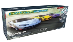SCALEXTRIC ... SUNSET SPEEDWAY LAMBO/JAG/MACLEARN ARC DIGITAL