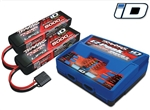 TRAXXAS ... CHARGER COMBO DUAL ID CHARGER W/ 2 PACKS 3S-5000mah LiPo